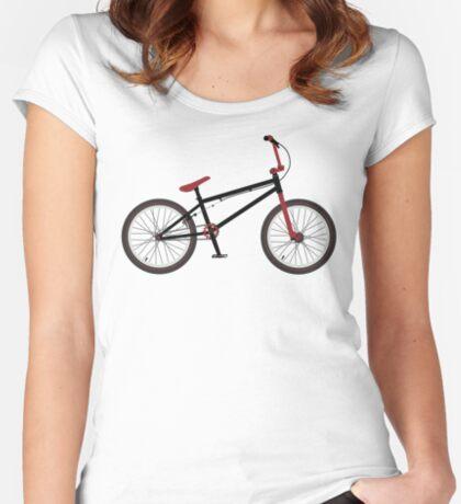 BMX Bike Women's Fitted Scoop T-Shirt