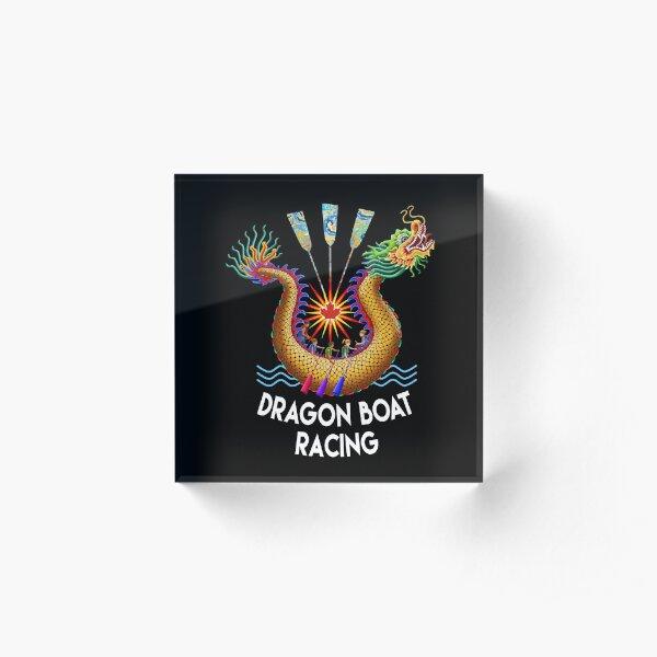 Red Maple Leaf Dragon Boat Logo T-Shirt Acrylic Block