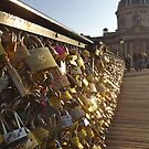 Paris Pont des Arts sunset by graceloves