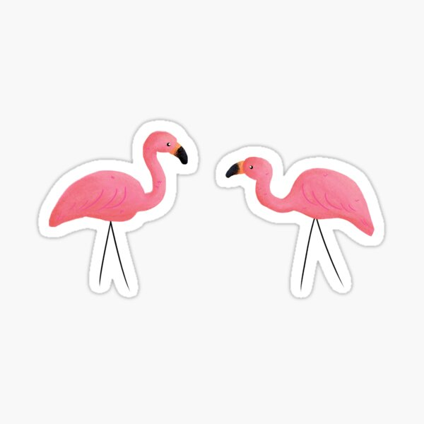 Summer Flamingos and Party Lights Sticker