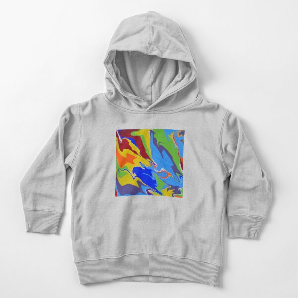 Repurposed Rainbow Pour Toddler Pullover Hoodie