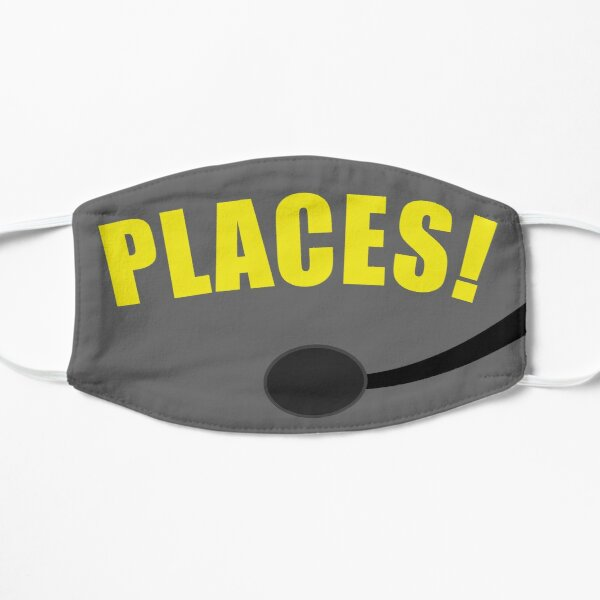 """Stage Manager """"Places!"""" Mask and Sticker Flat Mask"""