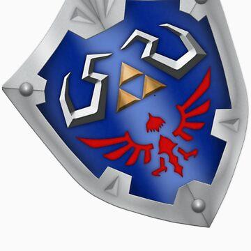 A Legend of Zelda (Left-shoulder Back) Shield Design  by FilipeFL3