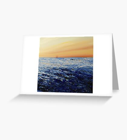 North Sea (with oil rig) Greeting Card