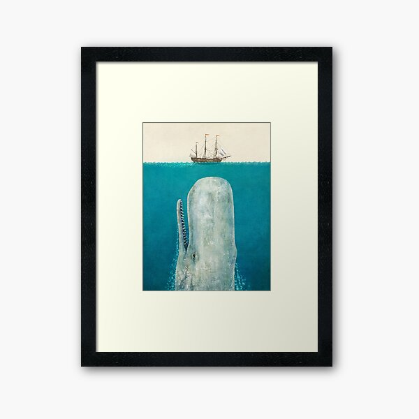 The Whale (Option) Framed Art Print