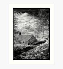 Mountain Farmstead Art Print