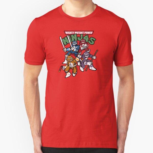 Mighty Mutant Power Ninjas! Slim Fit T-Shirt