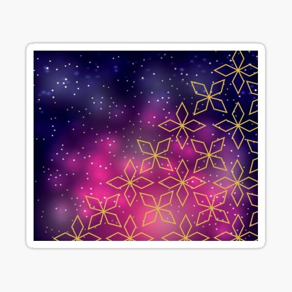 Geometric Star Galaxy Sticker