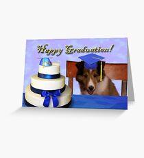 Graduation Sheltie Puppy Greeting Card