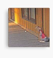 Dozing At The Corner Canvas Print