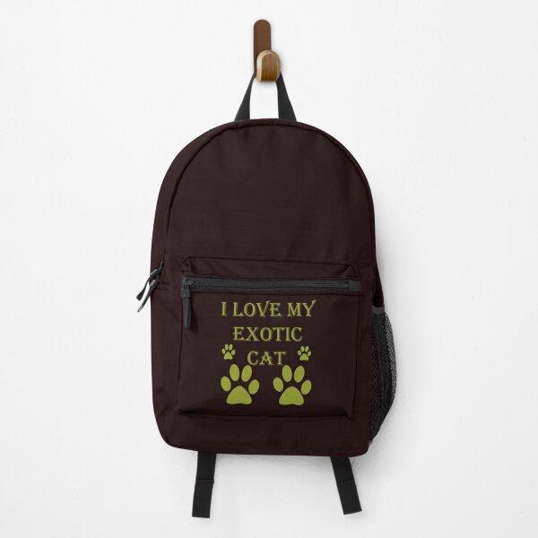 i love my exotic cat shirt Backpack