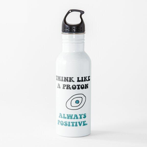 cita de la ciencia Botella de agua