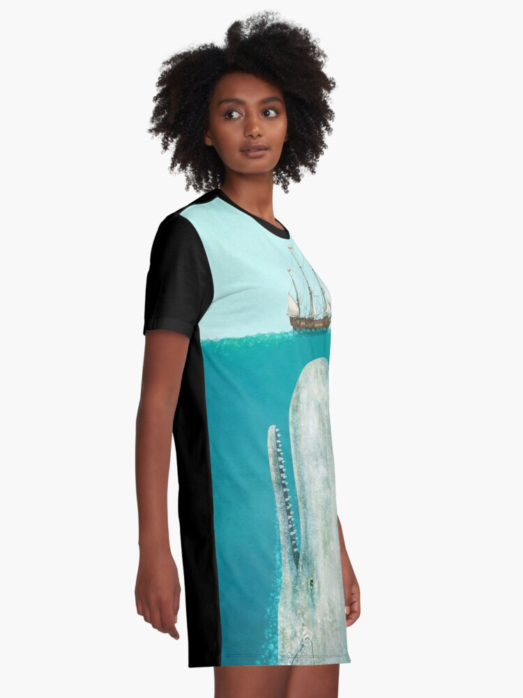 Alternate view of The Whale  Graphic T-Shirt Dress