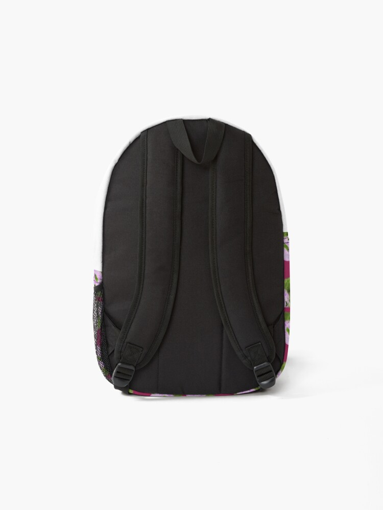 Alternate view of Panda pattern in purple and green Backpack