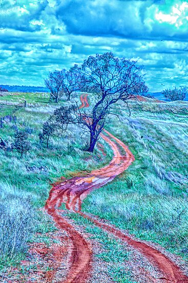 The Short And Winding Road  - Cootamundra NSW - The HDR Experience by Philip Johnson