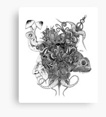 Psilocybinaturearthell Psychedelic Ink Illustration Canvas Print