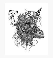 Psilocybinaturearthell Psychedelic Ink Illustration Photographic Print