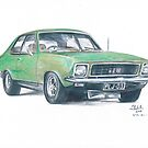 Holden Torana GTR-XU-1 in Green by Joseph Colella
