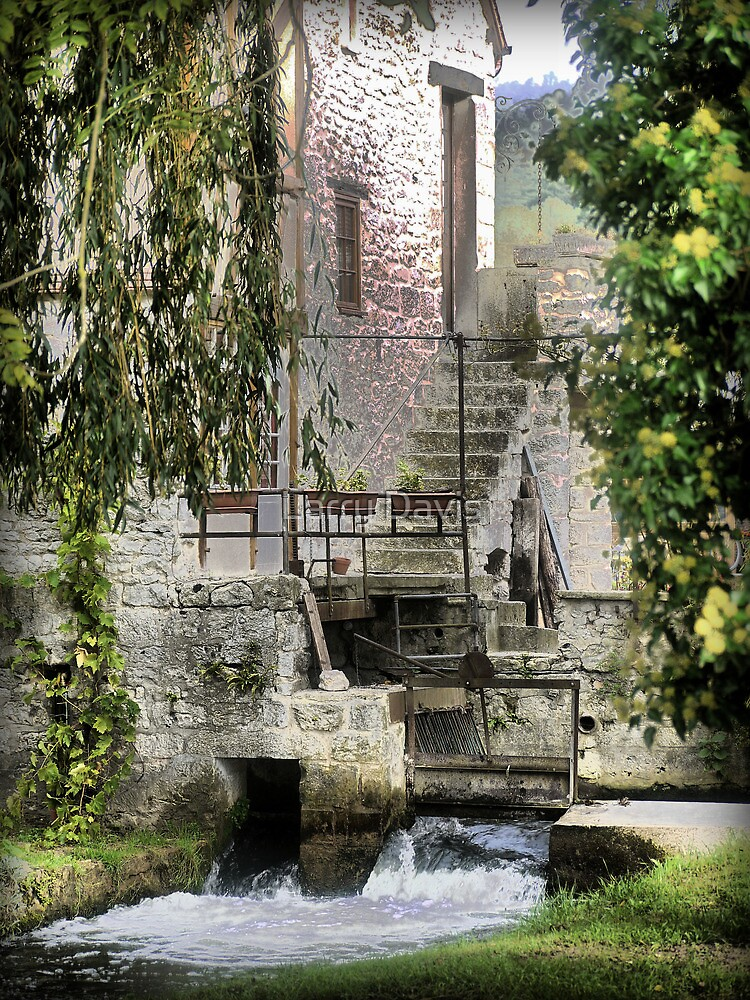 Le Moulin Des Chennevie'res.....A Norman Sluice Gate by Larry Lingard-Davis
