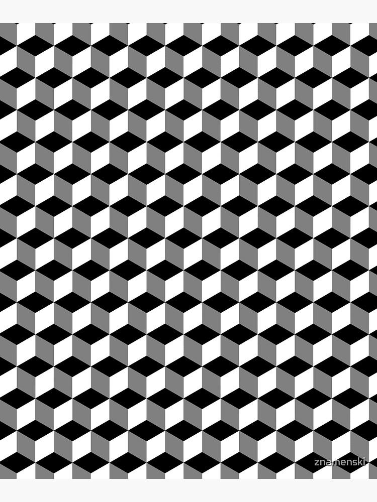 ILLusion, 3d cubes, Pattern by znamenski