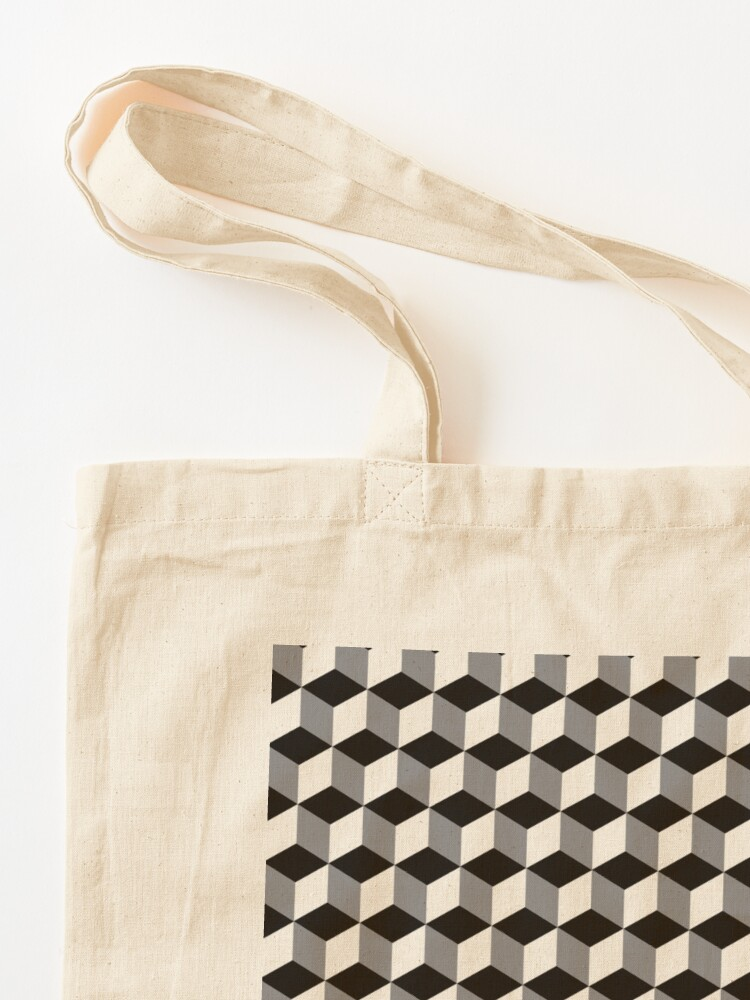 Alternate view of ILLusion, 3d cubes, Pattern Tote Bag