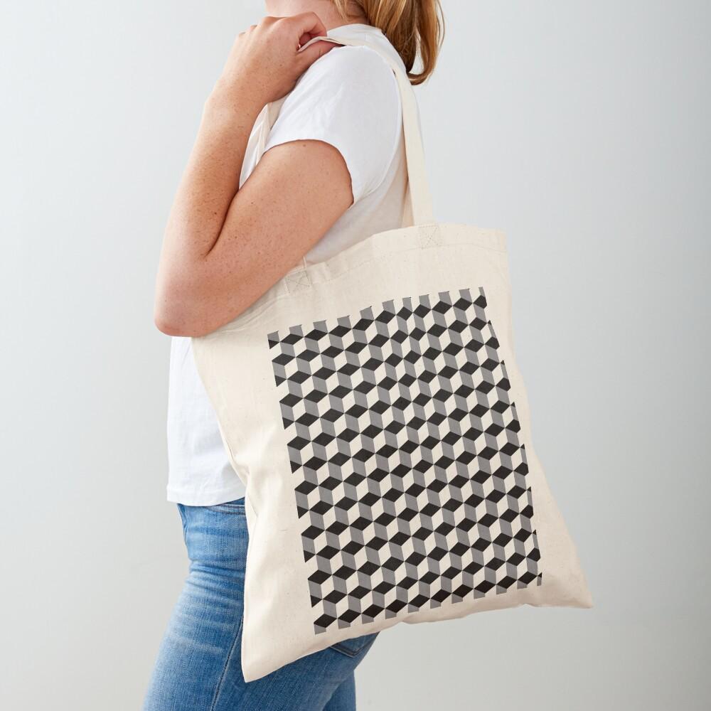 ILLusion, 3d cubes, Pattern Tote Bag