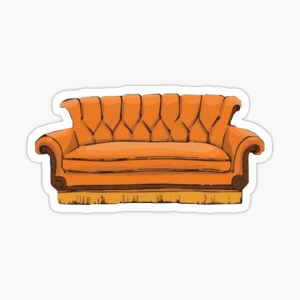 Central perk couch Sticker