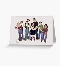Fun with friends Greeting Card