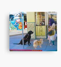 Dogs and their Mom Canvas Print