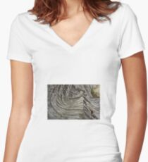Cypress Root Women's Fitted V-Neck T-Shirt