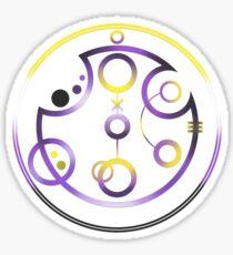 Nonbinary in Circular Gallifreyan (w/ symbol) Sticker