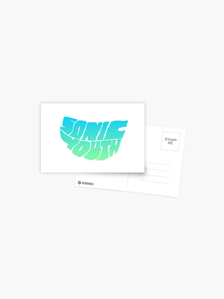 Sonic Youth Logo From Sonic Nurse Mask Blue Green Postcard By Minnip0ps Redbubble