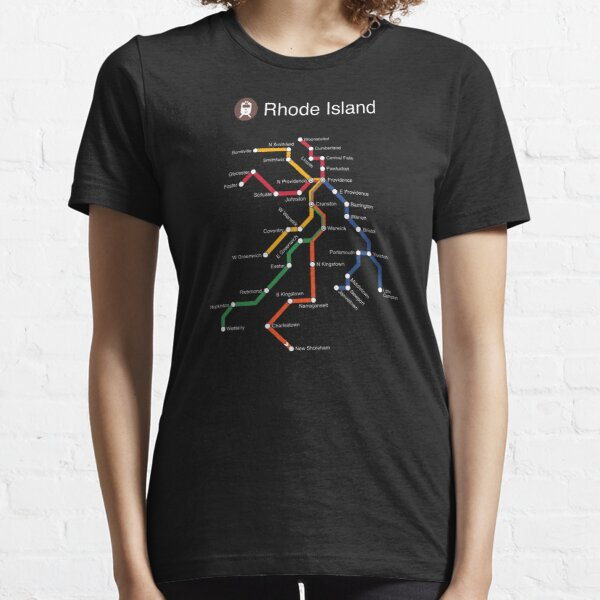 Rhode Island (white) Essential T-Shirt