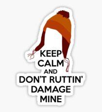 Jane Cobb Firefly Keep Calm Design Brown Sticker