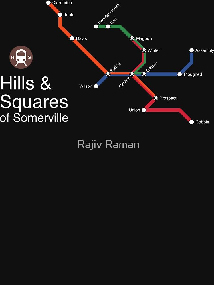 Hills & Squares of Somerville (white) by arrtworks