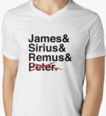 James & Sirius & Remus & X. Men's V-Neck T-Shirt