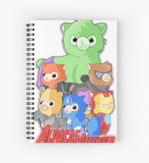 Alpacas Assemble Spiral Notebook