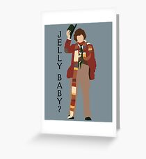 Doctor Who Tom Baker Jelly Baby minimalist Greeting Card