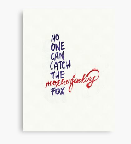 The Mothereffing Fox Canvas Print