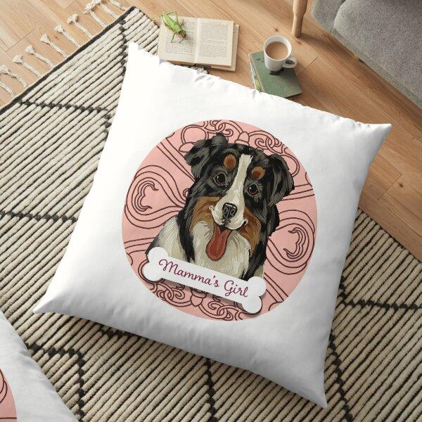 AUSTRALIAN SHEPHERD Mamma's Girl in pale pink Floor Pillow