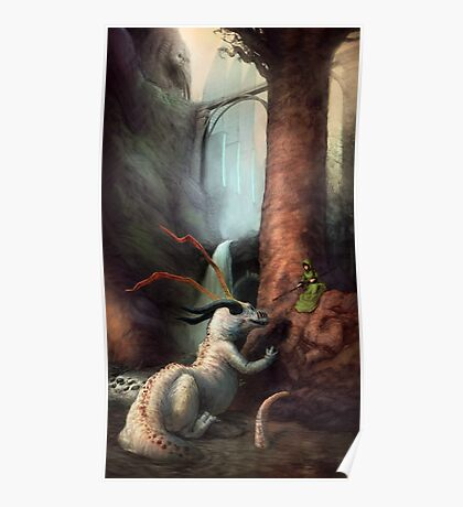 Frigga and the Water Dragon Poster