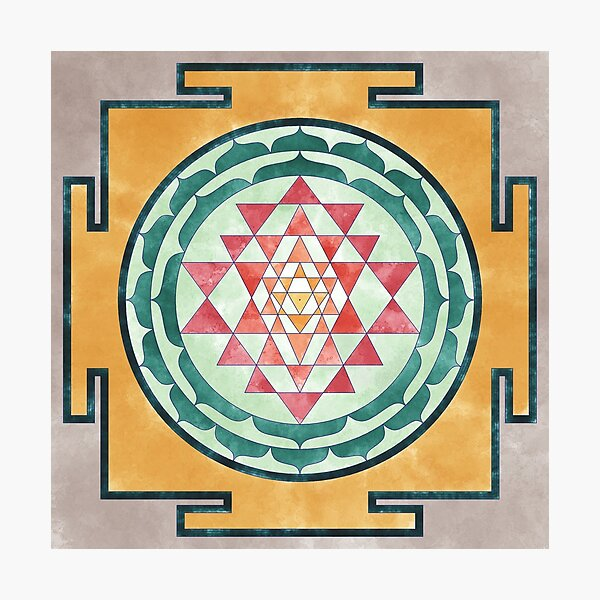 Sri Yantra 06 Photographic Print