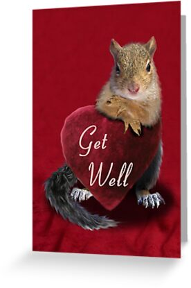 Get Well Squirrel by jkartlife