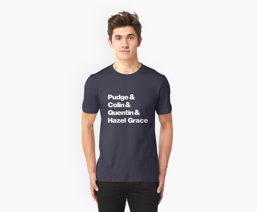 John Green's Characters Ampersand T-shirt v.2 by syrensymphony