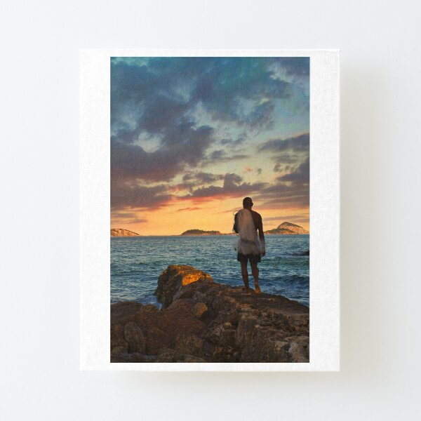 the fisherman and the sea Canvas Mounted Print