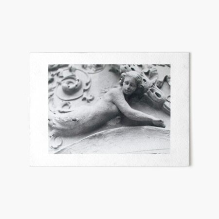 Mermaid Sculpture Art Board Print