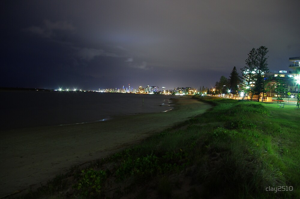Gold Coast @ Night by clay2510