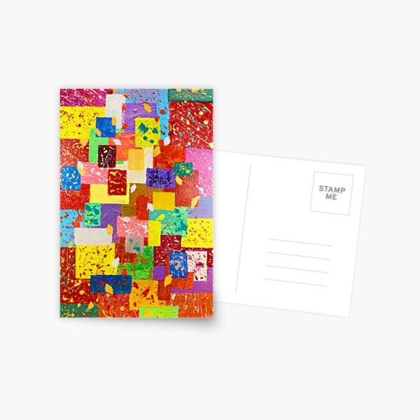 Contemporary Abstract  Postcard