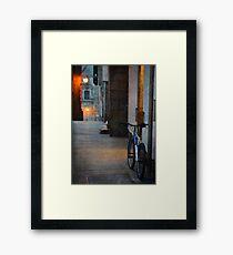 Falling the night Framed Print