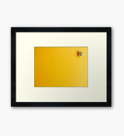 Some like it simple Framed Print